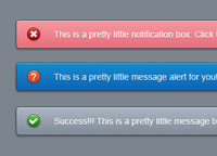 Pretty little notification boxes